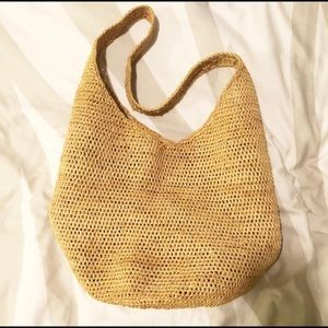Summer chic woven hobo tote bag!
